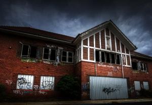 Leanne Cole School Covered in Graffiti